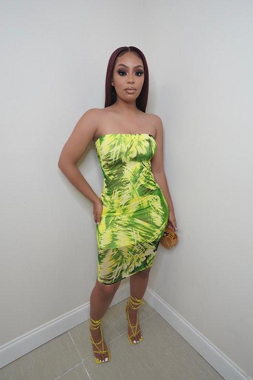 Lori Dress (Lime)