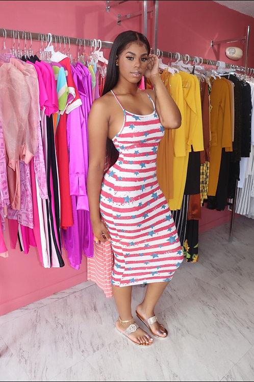 Elle Dress-Stars/Stripes