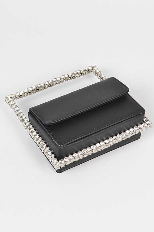 Rectangle Diamond Clutch (Black)
