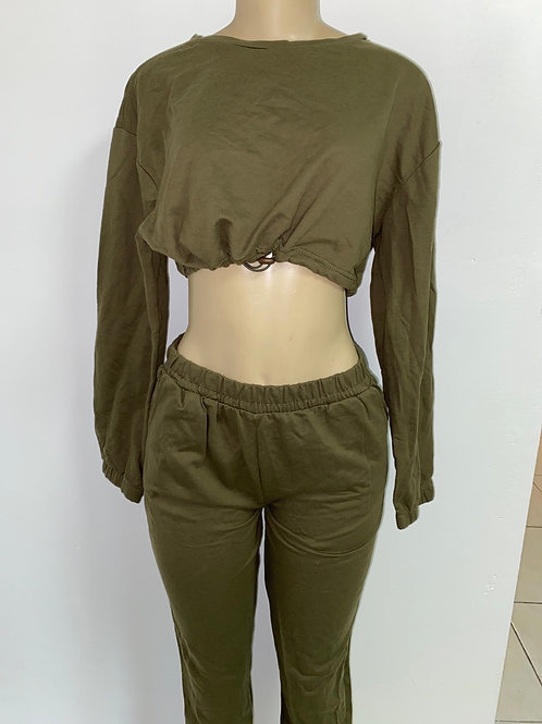 Olive Green Two Piece