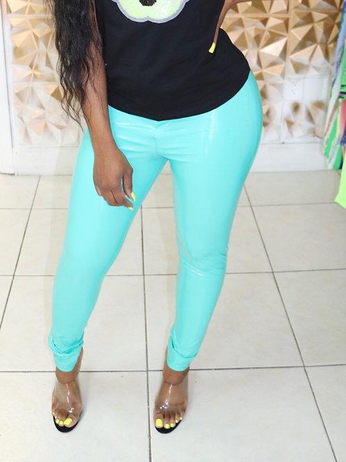Barbie Latex Pants-Baby Blue