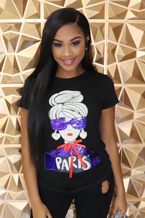 Paris T-Shirt-Black