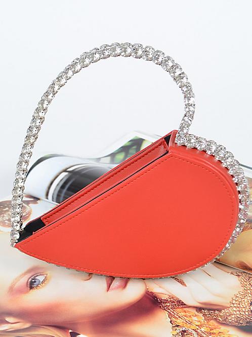 Heart Diamond Clutch (Red)