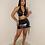 Thumbnail: Aura Latex Skirt Set (Black)