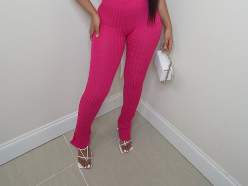 Nita Knit Pants (Hot Pink)