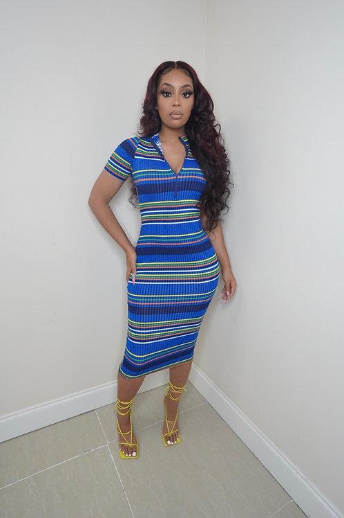 Claire Dress (Royal Blue)