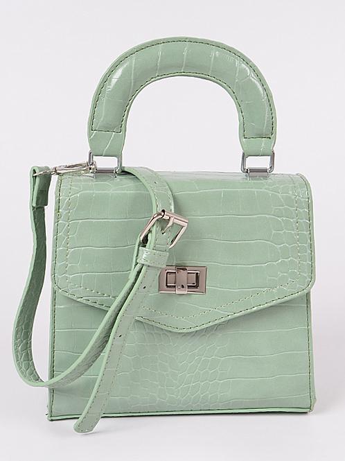 Monotone Snakeskin Bag (Mint)