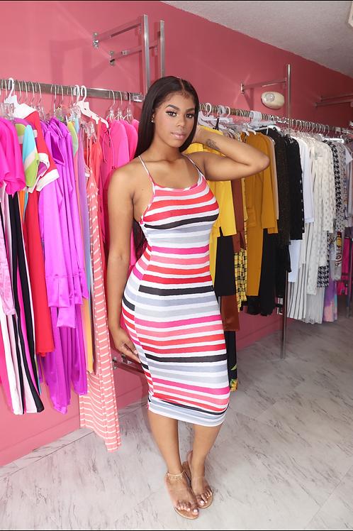 Elle Dress-Striped
