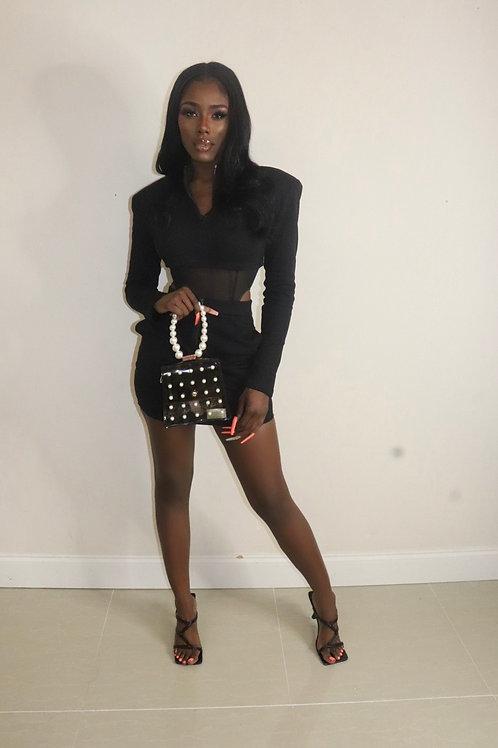 Stacey Skirt Set (Black)