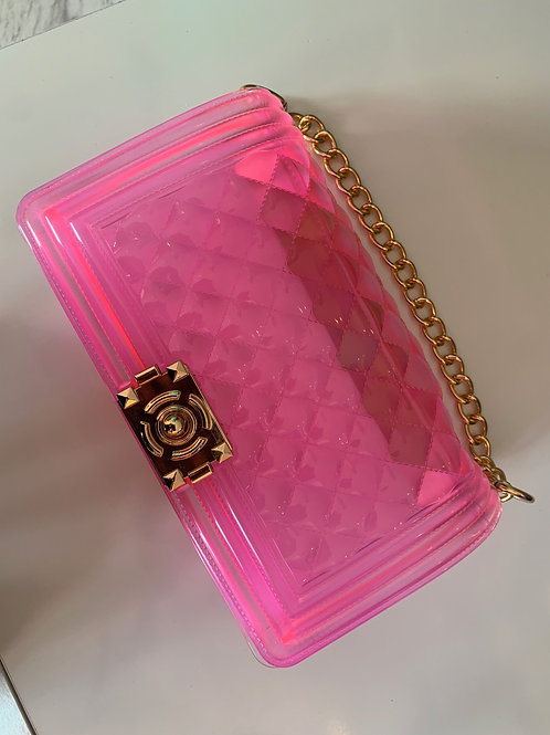 Quilted Jelly Bag-Pink