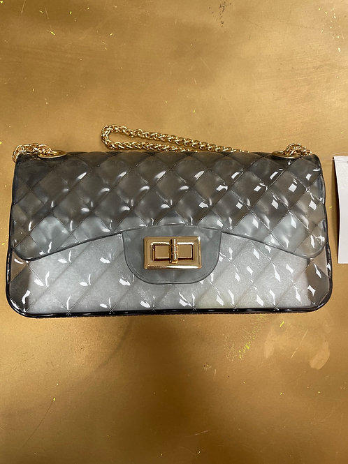 Mini Quilted Bag- Clear Grey