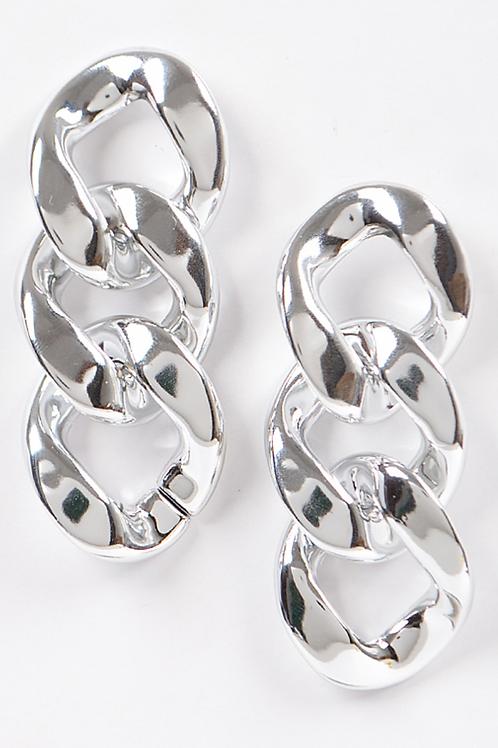 Ccb Chain Earring-Silver