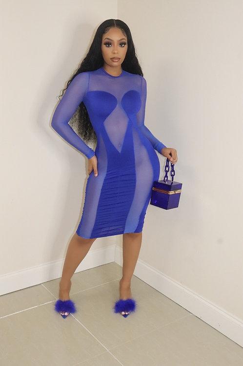 Blair Dress (Royal Blue)