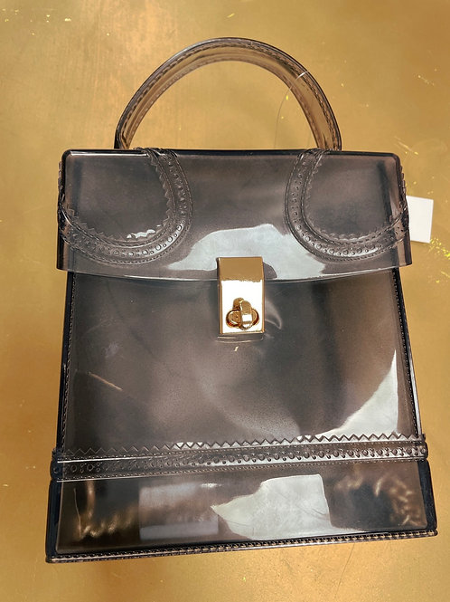 Jelly Box Bag- Clear Black