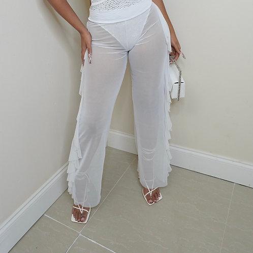 Swing Mesh Pant (White)