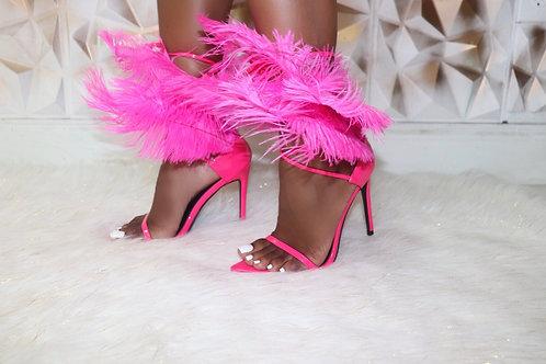 Saint Feather Heels-Pink