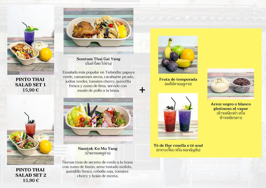 Salad combo menu