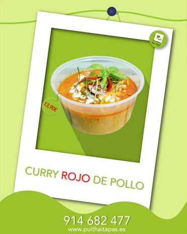 Curry rojo Pollo