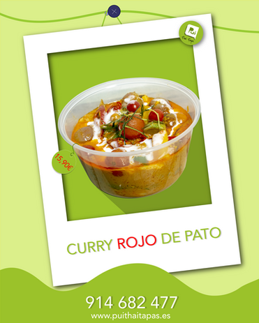 Curry rojo Pato