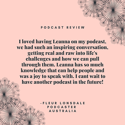 I loved having Leanna on my podcast, we