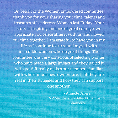 On behalf of the Women Empowered committ