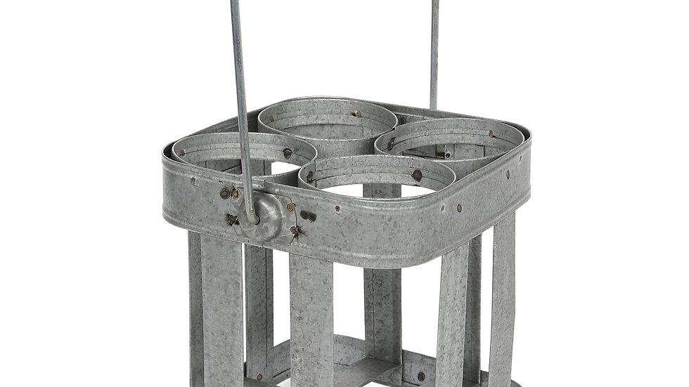 Herdemyeşil 4'lü Galvaniz Şişelik 17x17x18cm
