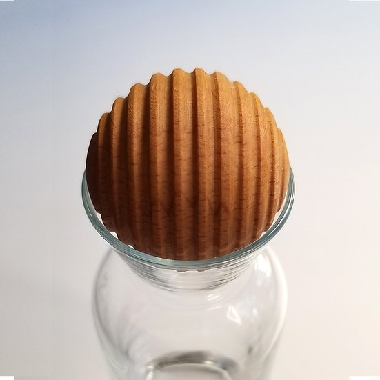 Herdemyeşil 2li Masif Ahşap Enlem Küre Karaf Kapağı-Gıdaya Uygun 4 cm