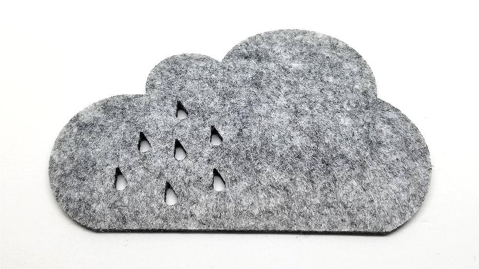 Keçe Bardak Altlığı-Yağmur Yüklü Bulut