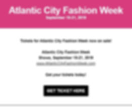 Atlantic City fashion Week - Get Tickets