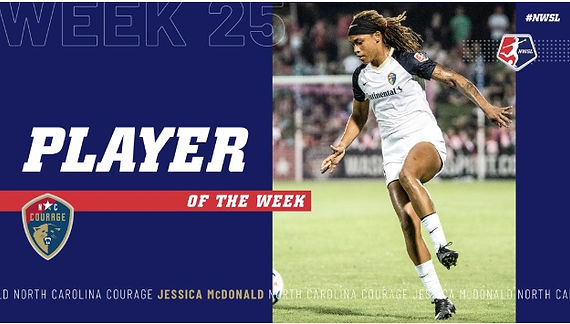JESSICA MCDONALD NAMED NWSL PLAYER OF TH