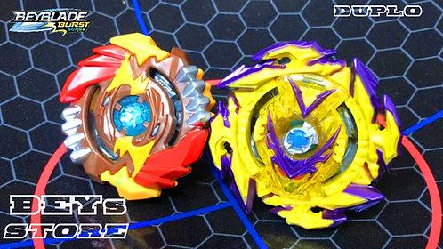 Beyblade Burst Surge Spear Valtryek V6 e Regulus R6 - Hasbro