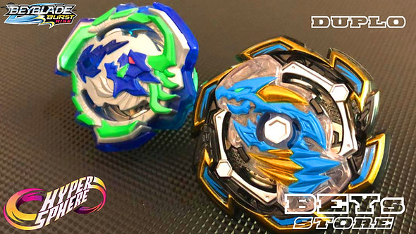 BEYBLADE Burst Rise Hypersphere Dual Pack Rock Dragon D5 and Ogre O5