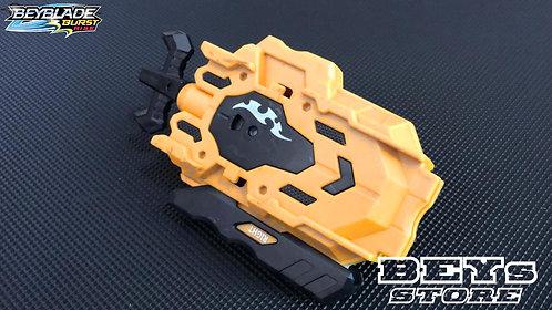 Lançador de Beyblade Corda B-00 com Rotação Dupla   Amarelo