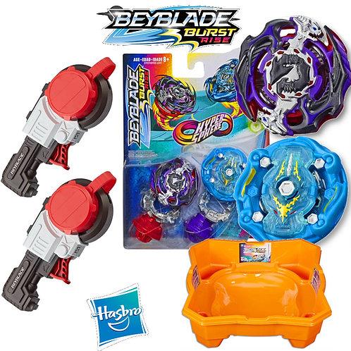 Combo Beyblade Burst Rise + 2 Mega Lançador Strike + Arena Beyblade Ris