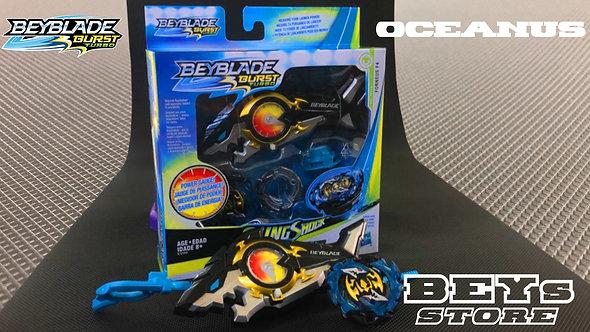 Beyblade - SlingShock Oceanus - Forneus F4 - Hasbro - com Lançador