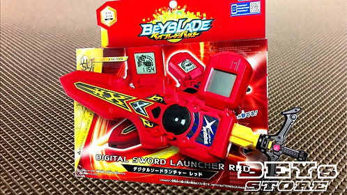Lançador Vermelho Digital With Sword Winder B-94 TakaTomy