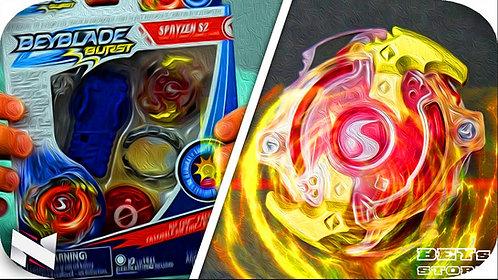 Beyblade Burst Spryzen  S2 Lançador Luz Led - Hasbro