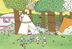 flekn camping illustratie