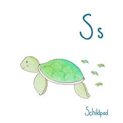 flekn dieren alfabet schildpad