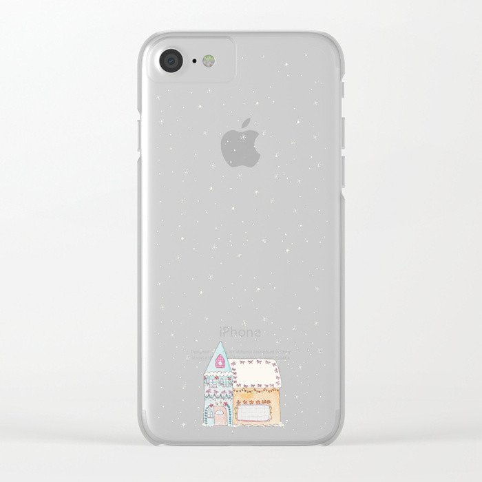 Gingerbread House Blue iPhone Case