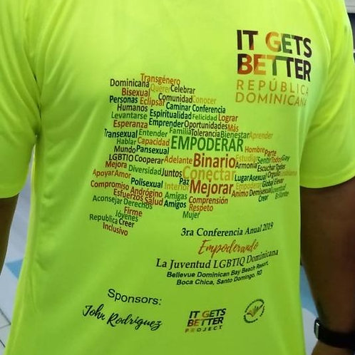 T Shirt 3ra Conferencia It Gets Better República Dominicana