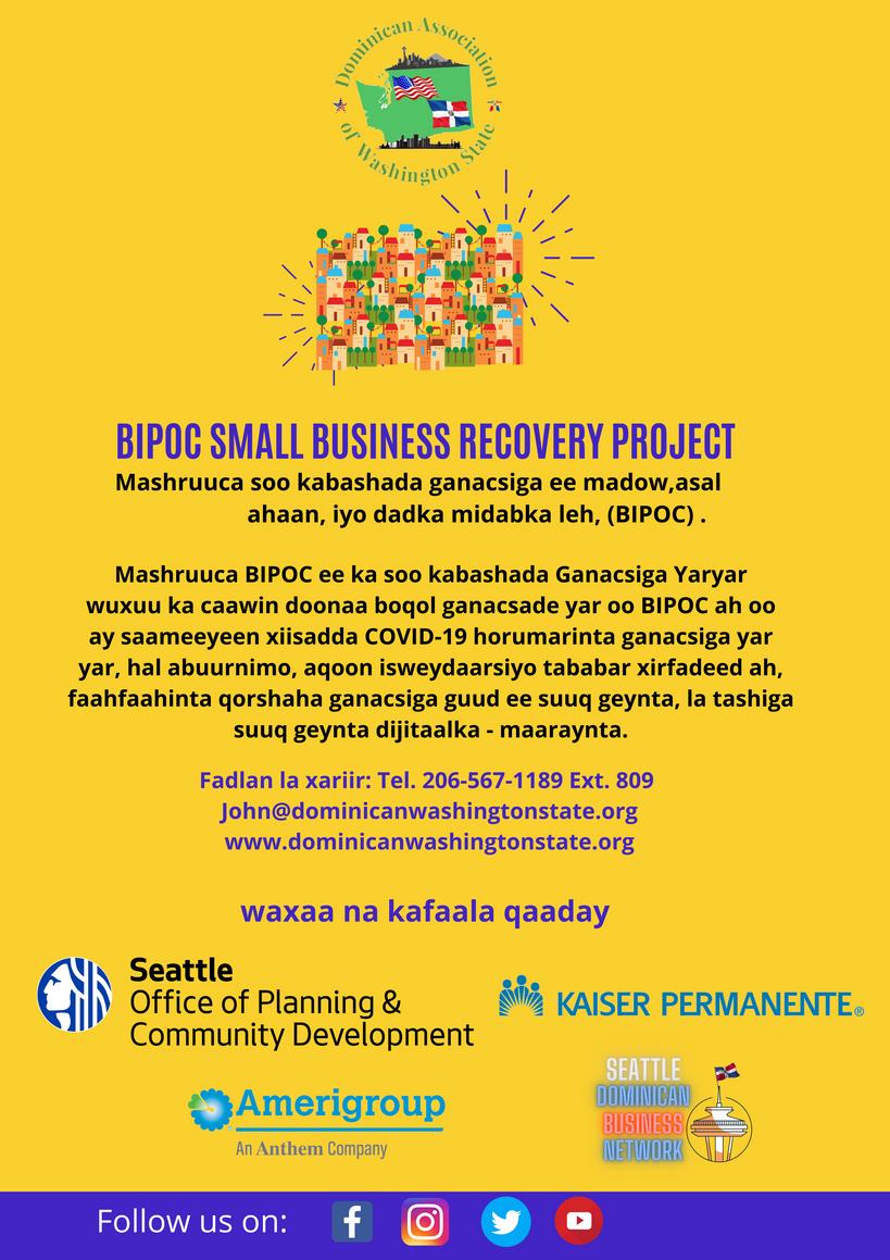 Somali-BIPOC-SMALL BUSINESS RECOVERY PRO