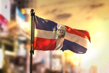 dominican-republic-flag-against-city-blu