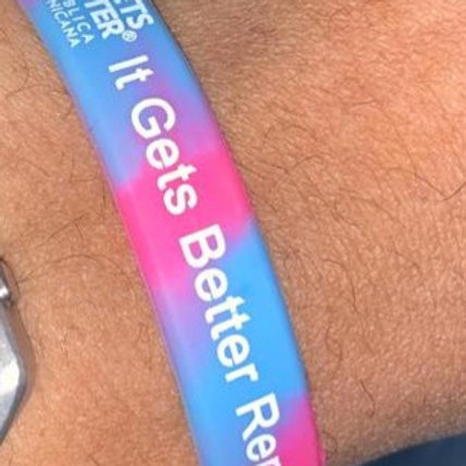 Trans It Gets Better República Dominicana Wristband