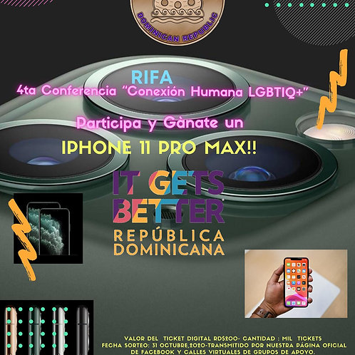 Rifa IPHONE 11 Pro Max - 4ta Conferencia It Gets Better República Dominicana