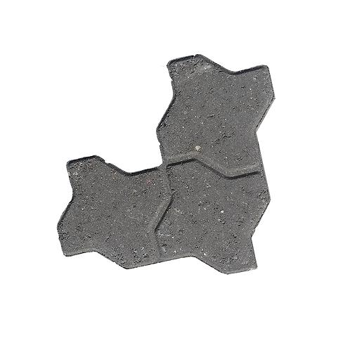 Interlock Sten - Grå - 8 cm