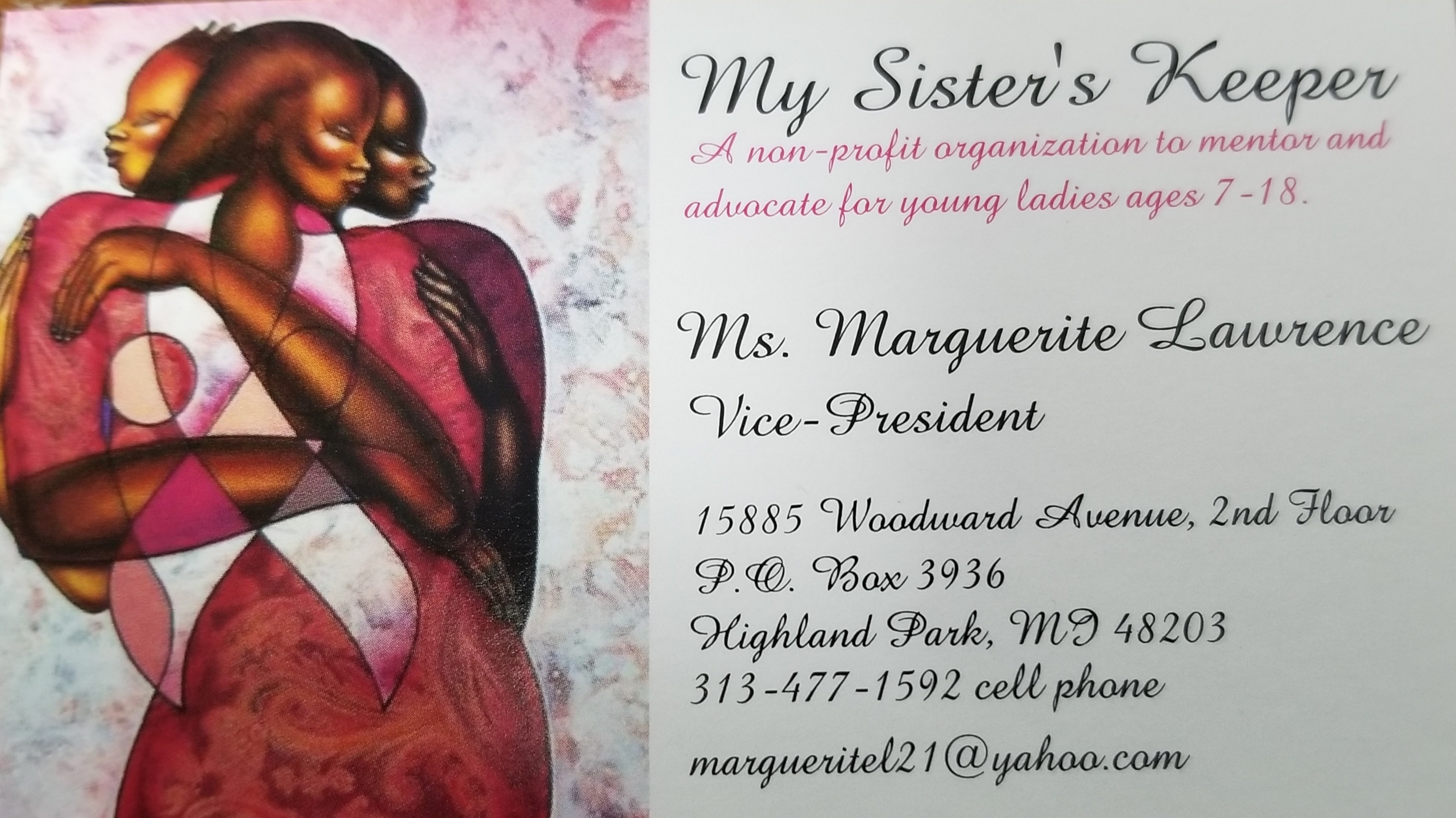 Appointment w/Ms. Marguerite Lawrence