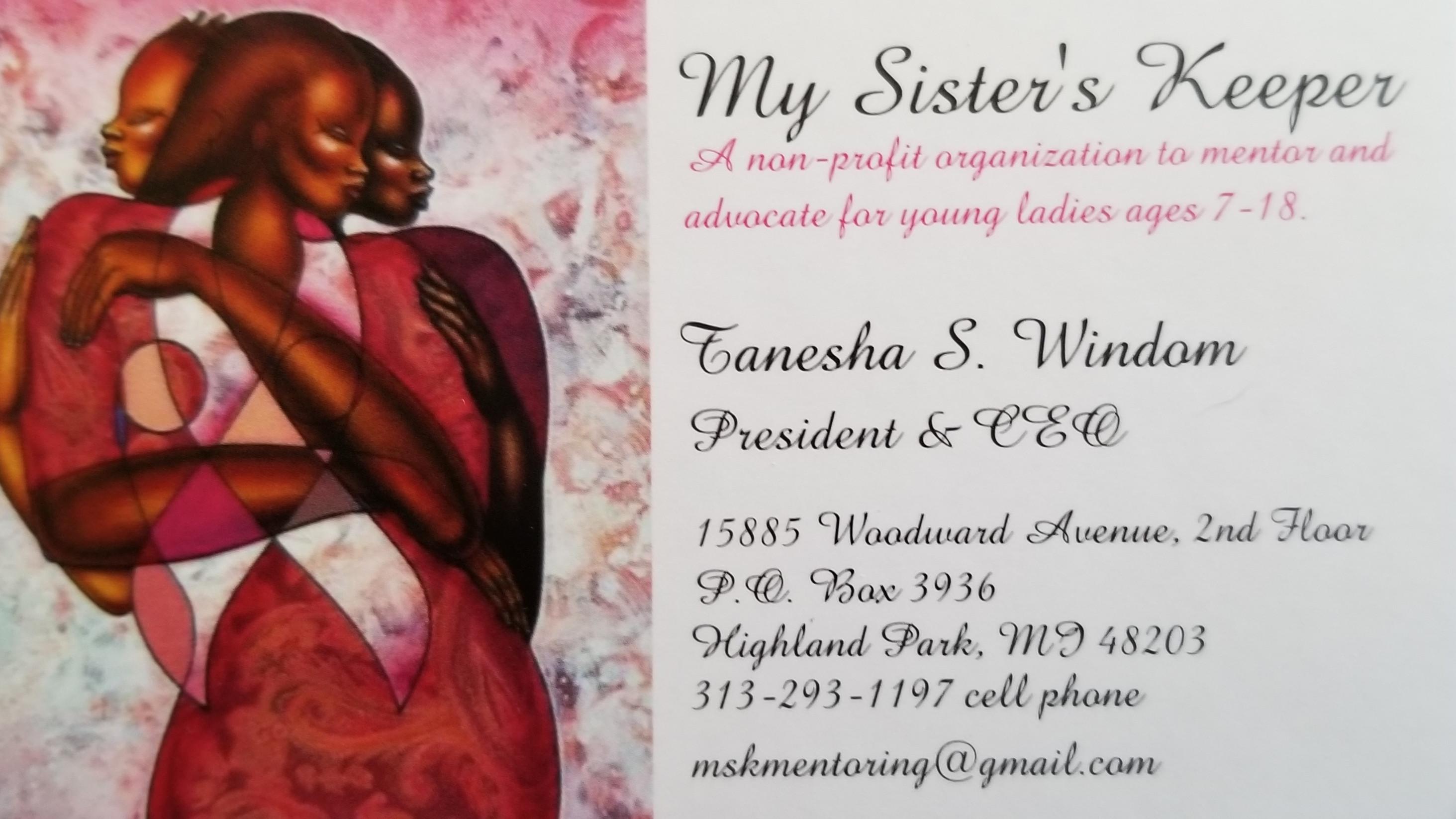 Appointment w/      Ms. Tanesha Windom