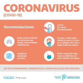 CORONAVIRUS: PRECAUCIONES