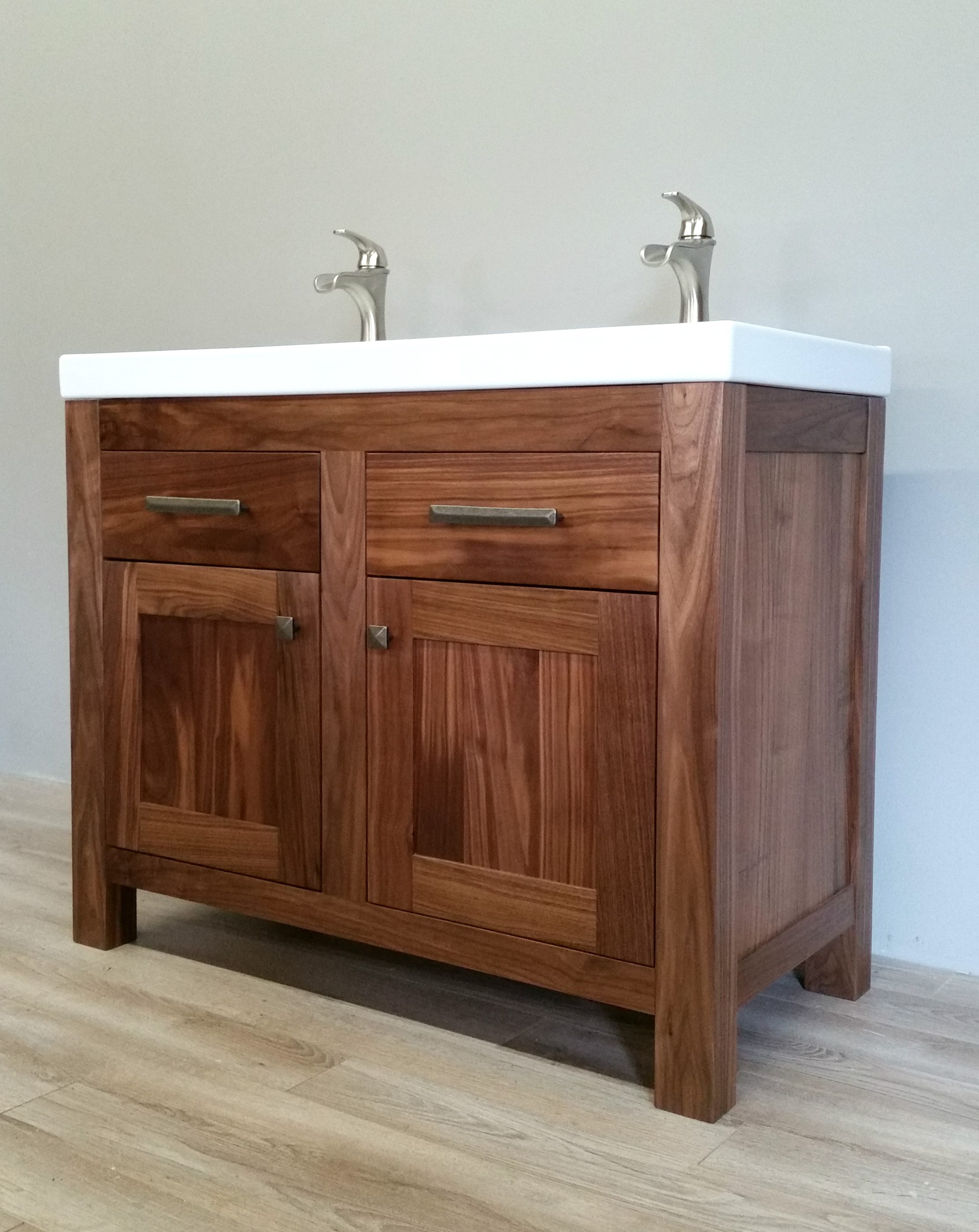 Custom Built Double Vanity